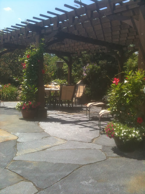 Pergola Covered Outdoor Dining Room