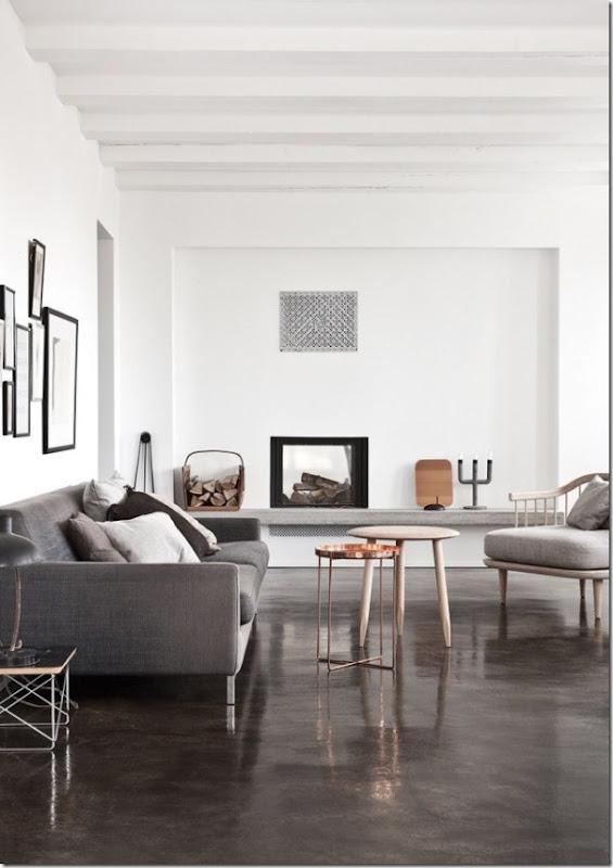 Casa in bianco e grigio stile nordico case e interni for Stile scandinavo arredamento