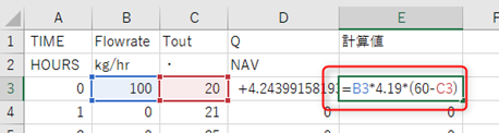 Excelに式を設定する