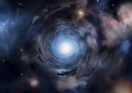 ilustração da rotação de uma galáxia no Universo jovem