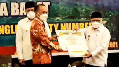 Penyelenggaraan Adminduk Disdukcapil Sawahlunto Juara II Terbaik Tingkat Sumbar