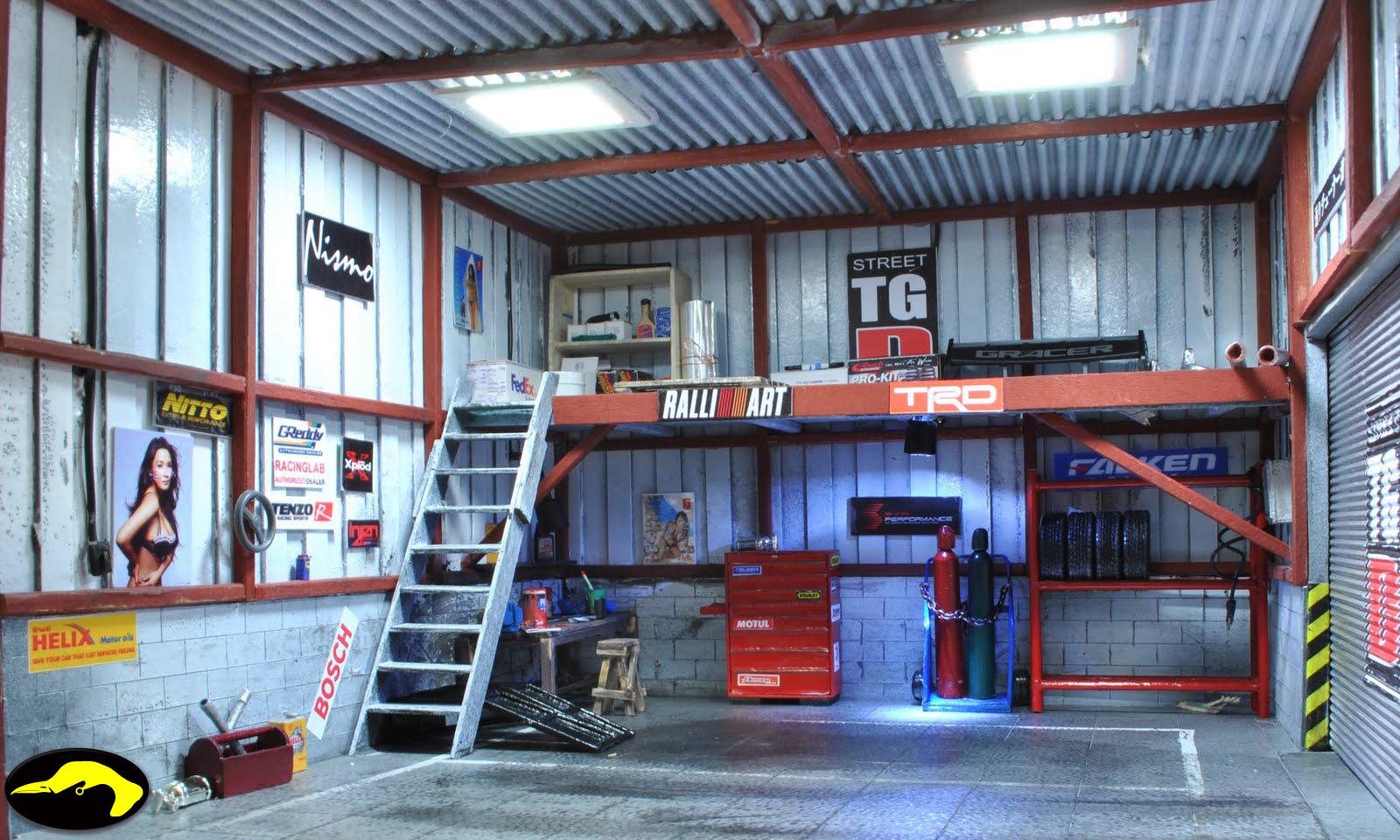 Bowerbird Garage Diorama Street Tuner Garage Diorama