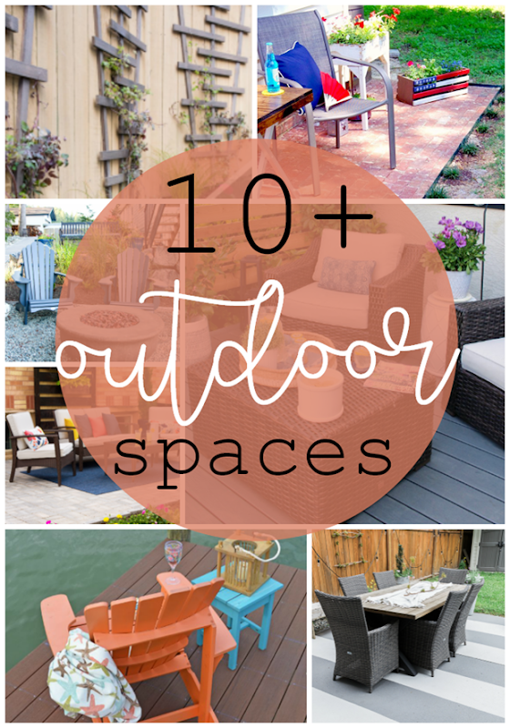 10  Outdoor Spaces at GingerSnapCrafts.com #outdoor #spaces #forthehome