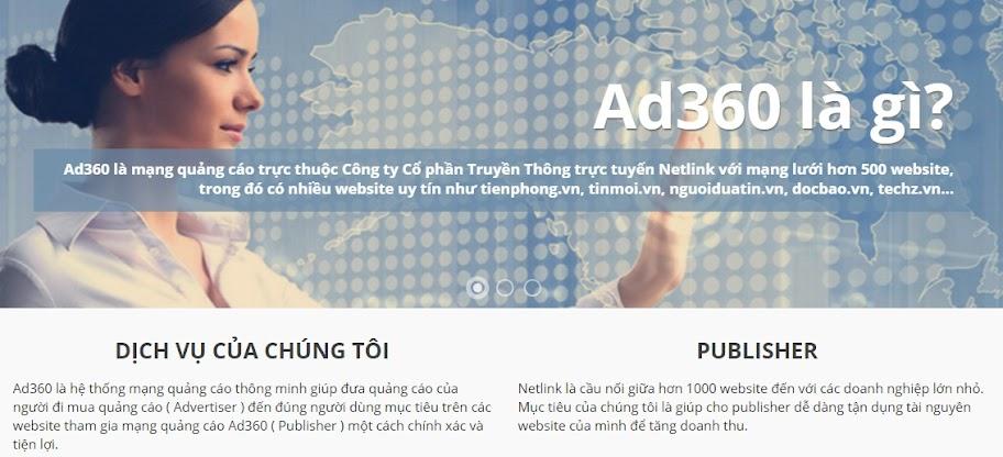 Ad360 - Mạng quảng cáo trực tuyến hiệu quả