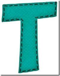 t letras verdes