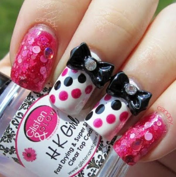 25 Pretty Bow Nail Art Designs You Must See