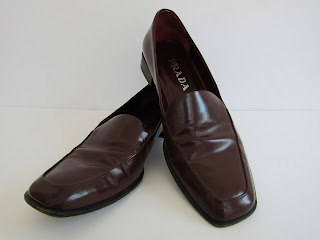 Prada Burgundy Business Shoes