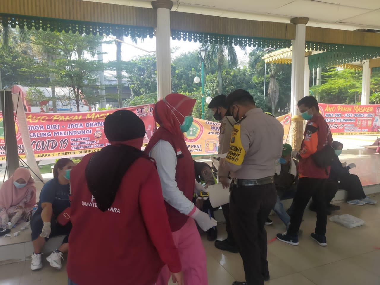 Lapangan Merdeka Medan Jadi Sasaran Operasi Yustisi Oleh Polsek Medan Barat