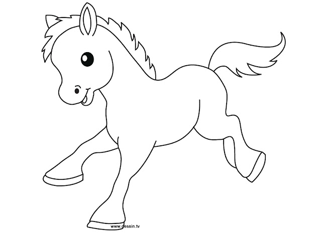 Cute Baby Horse Coloring Pages Only Coloring Pages Throughout Cute Horse Coloring  Pages