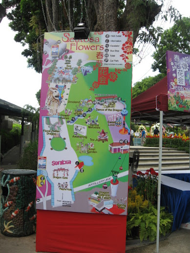 Map of Sentosa Flowers 2012