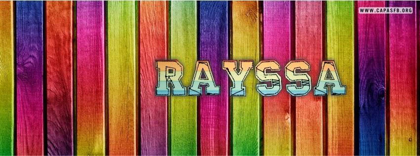 Capas para Facebook Rayssa