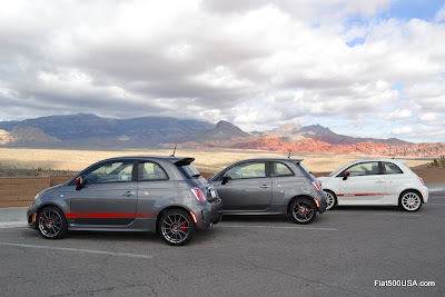 Fiat 500 Abarth at Red Rock Canyon