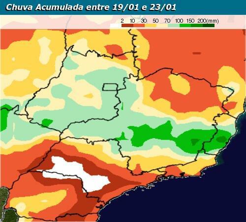 Risco de temporais em Minas Gerais no decorrer dessa semana