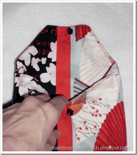 Simple Cute Pouch made with Asian Style Fabric