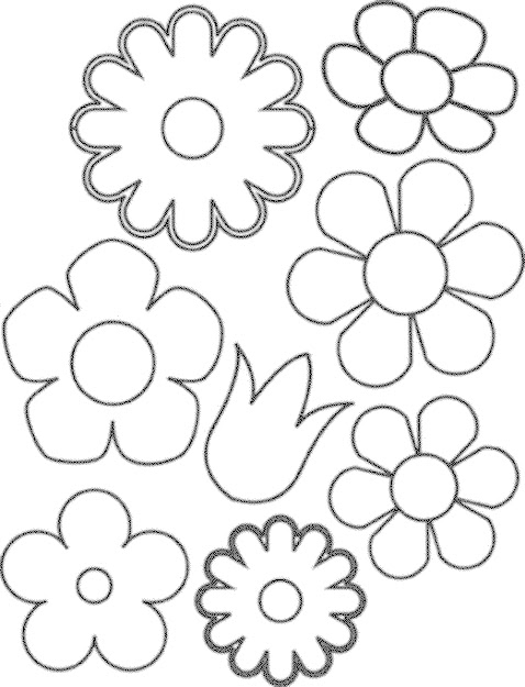 Easy Flower Coloring Page  Images About Flowers To Craft On  Pinterest
