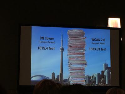 Bilde som viser en papirbunk like høy som CN Tower i Toronto, Canada.