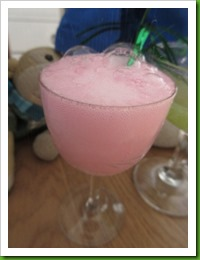 Cocktail Hour pink fizz