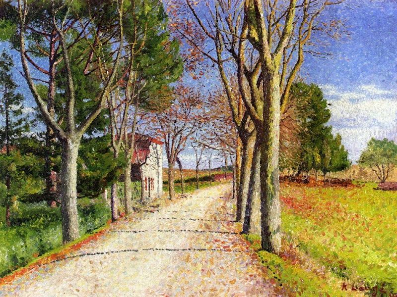 Achille Laugé - The Road from Cailhauvers Cailhavel