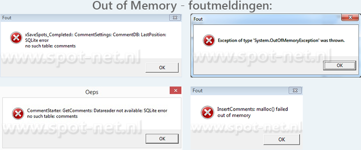 Spotnet out-of-memory