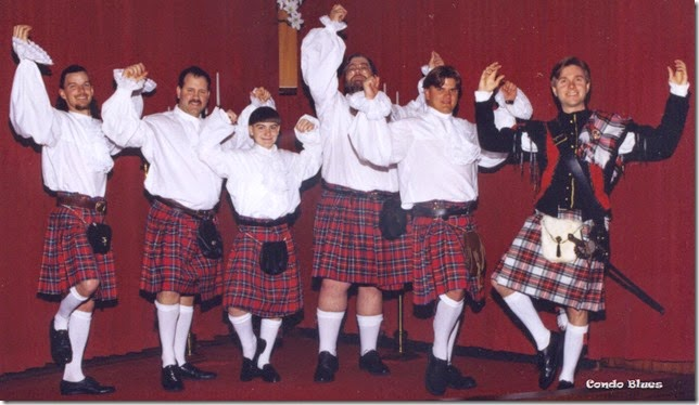 scottish dancing groomsmen