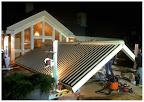 Nog laat aan het werk met Biossun terrasoverkapping.