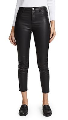 elegant black leather-look pants