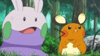 ¡Dedenne hace su mejor esfuerzo! ¡¡Todo por Goomy!! Pokémon XY