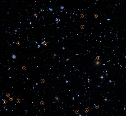 o ALMA explora o Campo Ultra Profundo do Hubble