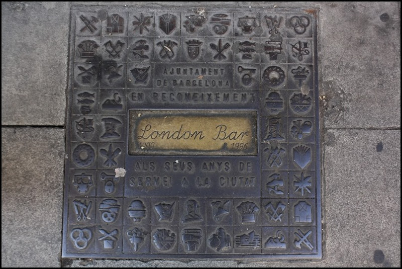 Barcelona manhole cover