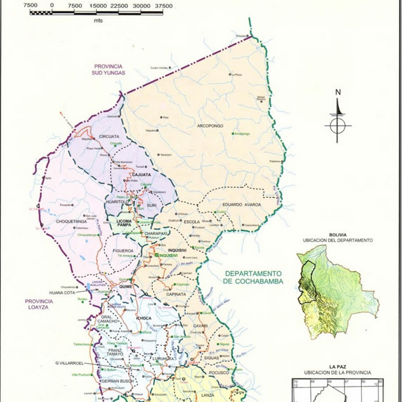 Provincia Inquisivi (1838): Departamento de La Paz (Bolivia)