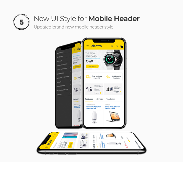 Mobile User friendly electronic Store theme