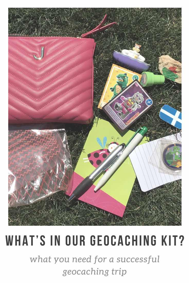 What's in our geocaching kit?