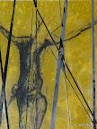 """""""Mensch"""", Glas, Schwarzlot, gelbes Glas, 2005/09"""