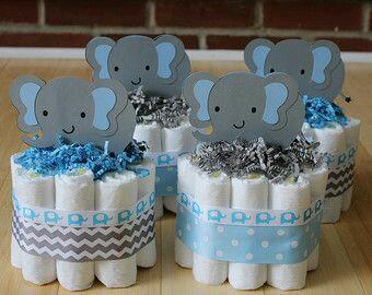 ... Centros De Mesa Para Un Baby Shower En Tonos Azules. Recuerda Que Todas  Las Ideas Están Pensadas Para Crearse Con Materiales Sencillos Y En Unos  Cuantos ...
