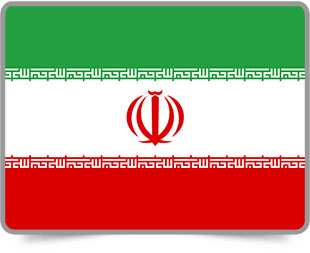 Iranian framed flag icons with box shadow
