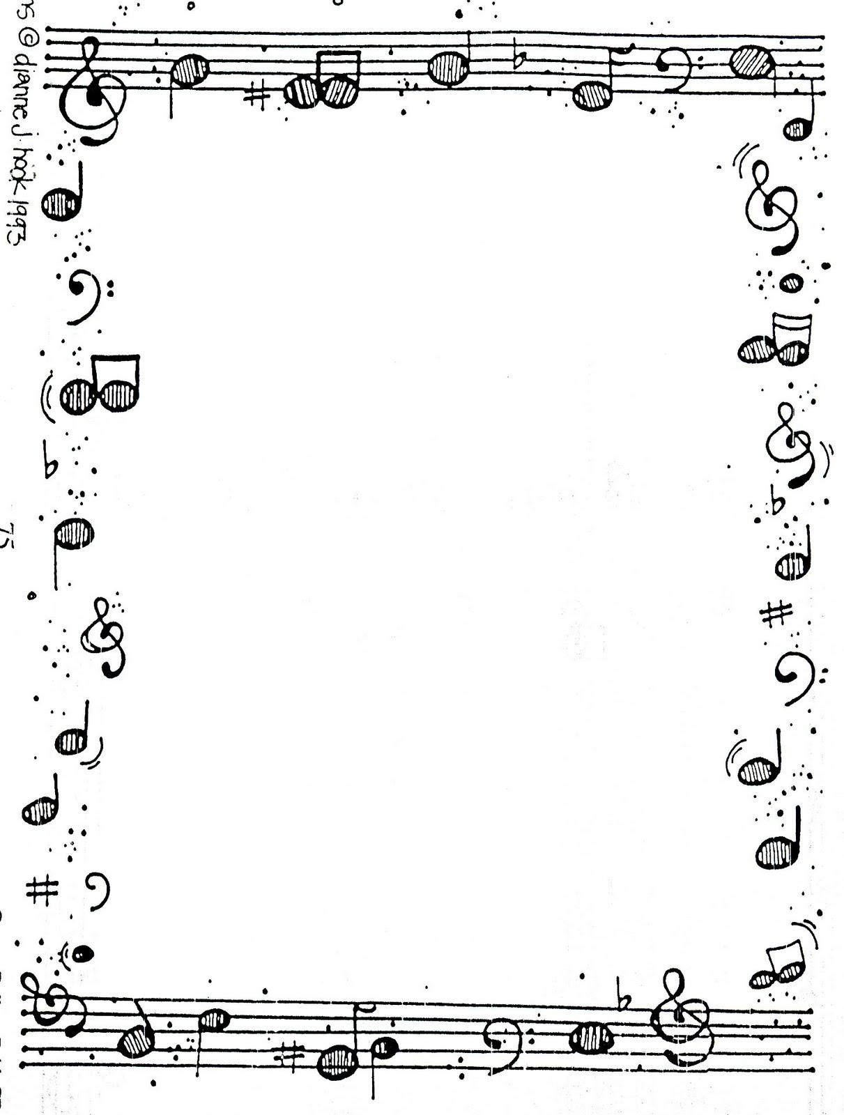Marcos musicales para hojas imagui for Canciones de jardin infantes