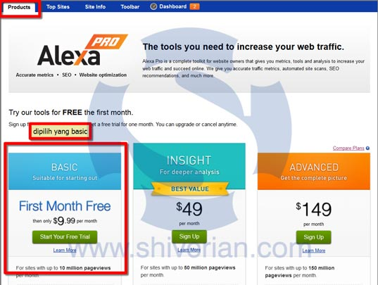 Mendaftar Alexa Pro Basic dengan VCC gratis