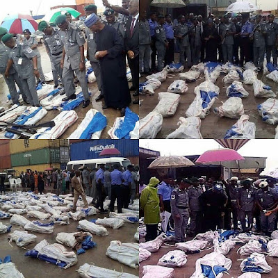 Image result for Another 1,100 pump action rifles seized in Lagos