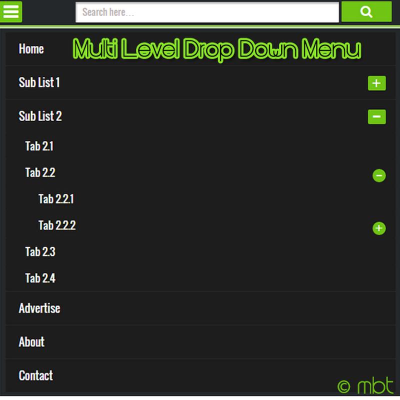 Site Map Generator Tool: Create A Mobile Responsive Multi-level Drop Down Menu