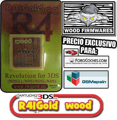 [VENDO] Flashcard/Cartucho TODAS Nintendos 3ds/2ds/dsi/ds/XL R4i Wood Firm