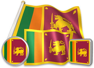 Sri Lankan flag animated gif collection