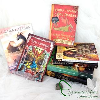 Feiticeiro de terramar, terra de histórias, como treinar seu dragão, harry potter, princesses of bamarre