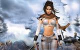 Fantasy Girl Behind Ruins