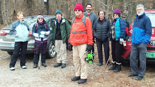Hikers at Skylight Pond trailhead in Ripton