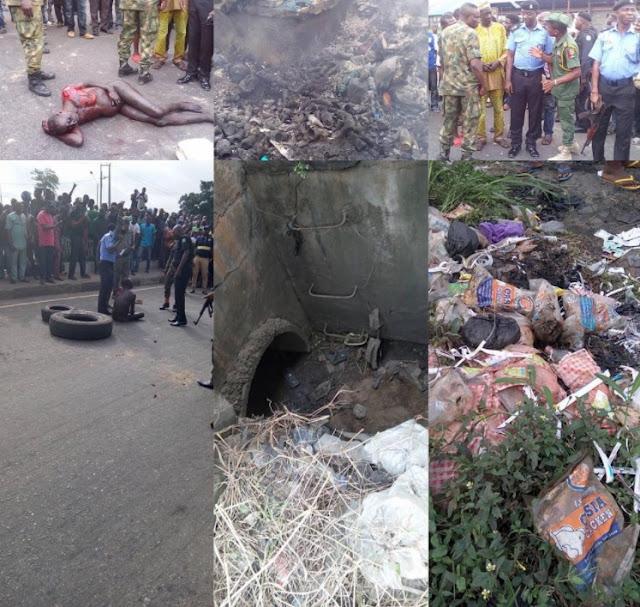 Ritualist Underground Den Discovered At Ile Zik Bus Stop, Ikeja, Lagos (Photos)
