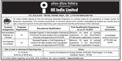 Oil India Limited Walk in Interview 2016 www.indgovtjobs.in