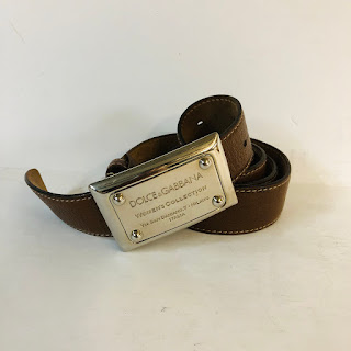 Dolce & Gabbana Nappa Leather Belt