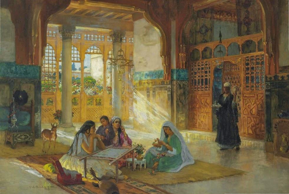 Frederick Arthur Bridgman - Interior of an Arab Palace