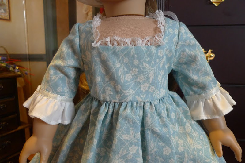 The Miniature Historian: Blue Colonial Summer Gown
