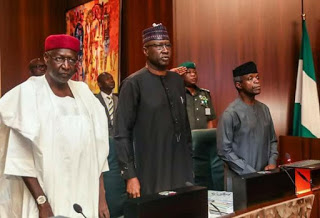 Photo :Faces Of Ministers As Vice President Osinbajo Presides Over The FEC Meeting